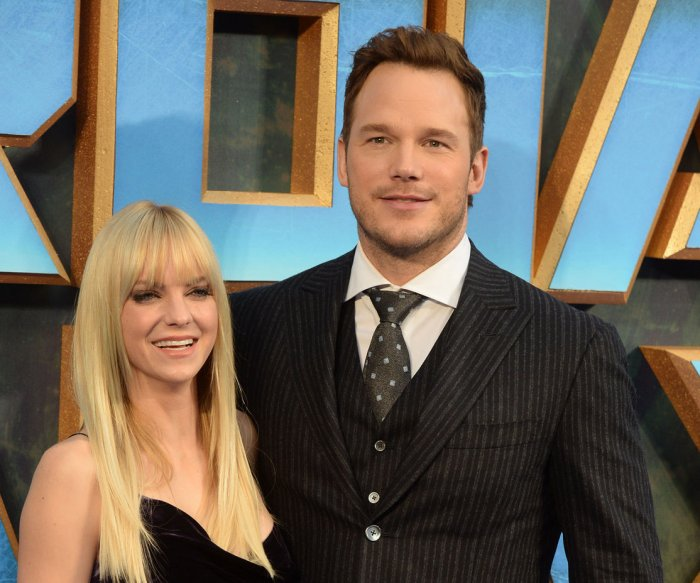 Chris Pratt, Anna Faris attend the 'Guardians of the Galaxy Vol. 2' premiere in London