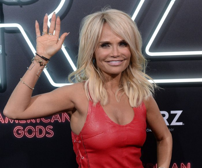 Kristin Chenoweth, Orlando Jones attend the 'American Gods' premiere in Los Angeles
