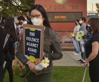 Protesters gather against anti-Asian hate in California