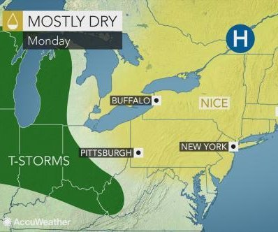 Storms to reappear in northeastern U.S. after Memorial Day