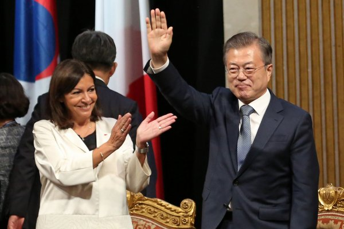 South Korean President Moon makes state visit to Paris
