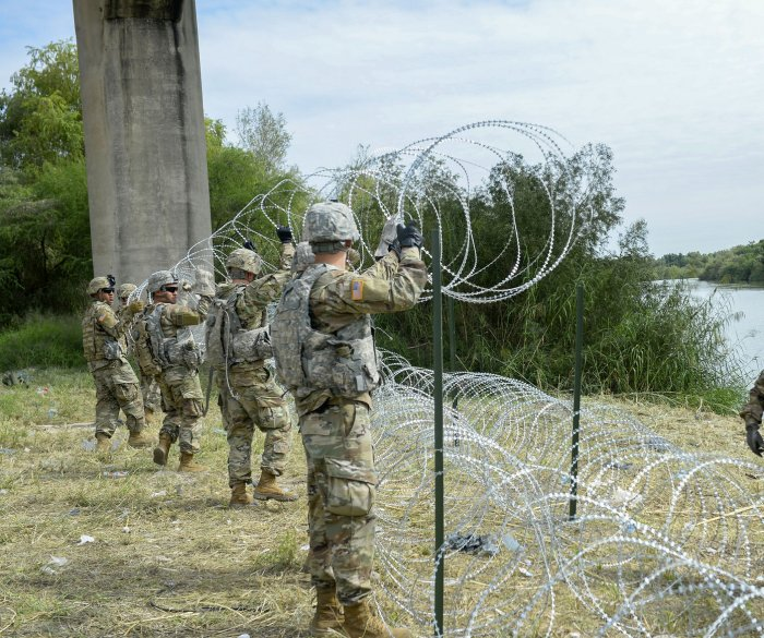 Pentagon chief to review funds to shift for building border wall