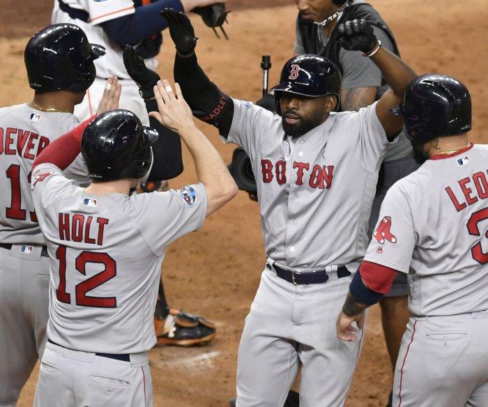 ALCS: Jackie Bradley Jr. slams Red Sox past Astros in Game 3