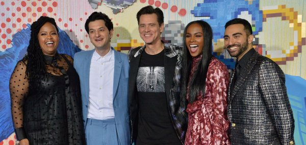 Jim Carrey, Ben Schwartz attend 'Sonic the Hedgehog' premiere in LA