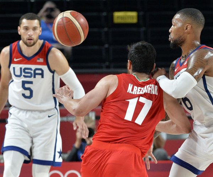 Olympics: Damian Lillard leads Team USA to basketball blowout over Iran