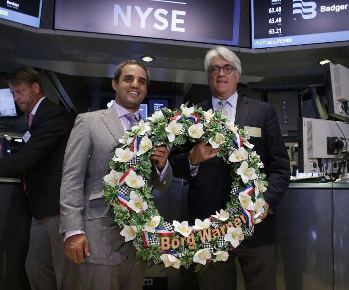 Indianapolis 500 winner Juan Pablo Montoya visits the NYSE
