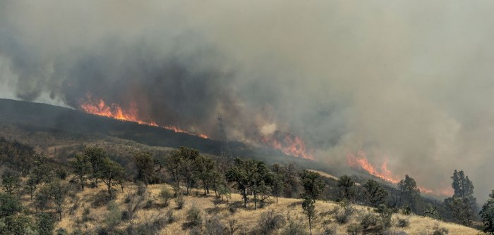 Wildfire torches parched California