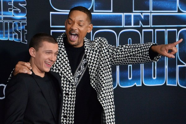 Will Smith, Tom Holland attend 'Spies in Disguise' premiere in LA