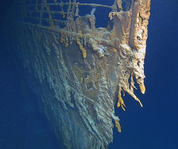 Dive team shoots first 4K images of deteriorating Titanic wreck