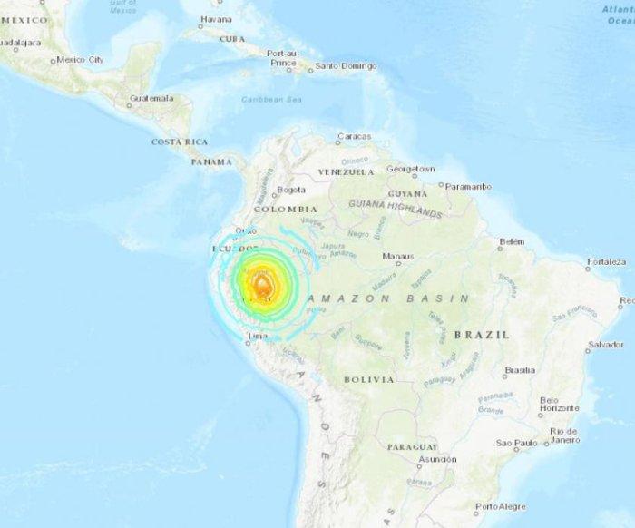 8.0 magnitude earthquake rocks Peru