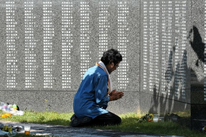 Paying respects on the 71st anniversary of the Battle of Okinawa