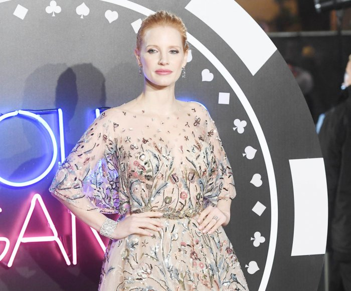 Jessica Chastain attends 'Molly's Game' premiere in London