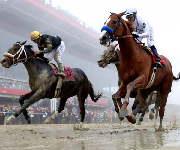 Justify wins the 143rd running of the Preakness Stakes