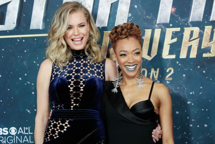 Sonequa Martin-Green, Rebecca Romijn attend 'Star Trek' premiere