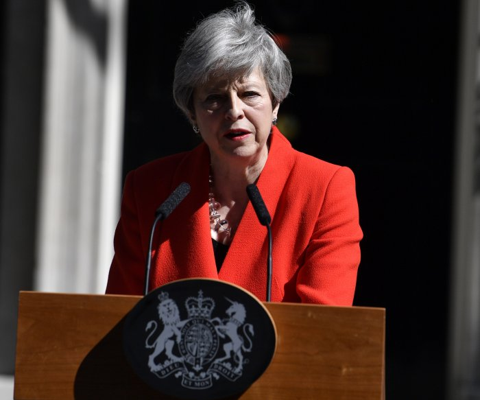British PM Theresa May to resign June 7 over Brexit gridlock