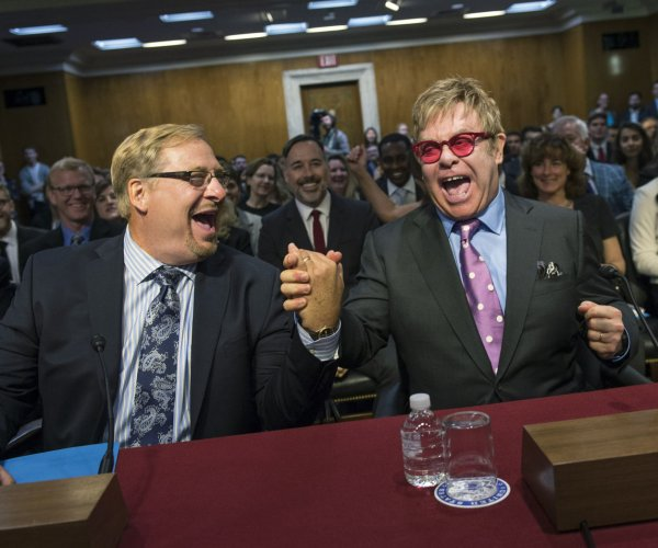 Elton John testifies on global health programs