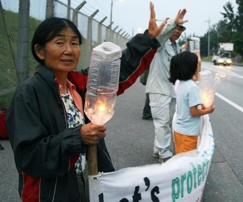 Voices: Elderly women on Okinawa protest U.S. base move
