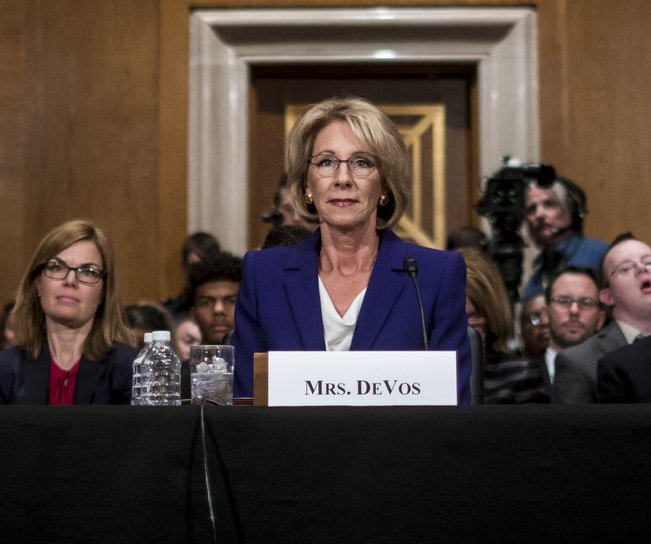 Billionaire DeVos promises no business conflicts with education post