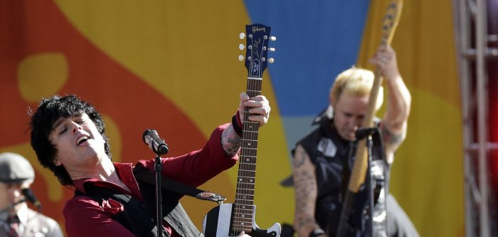 Green Day perform on 'Good Morning America' in New York