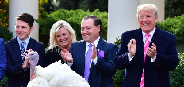 Trump pardons Drumstick, the National Thanksgiving Turkey