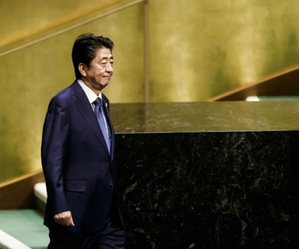 Japan's Abe defends free trade before U.N. General Assembly