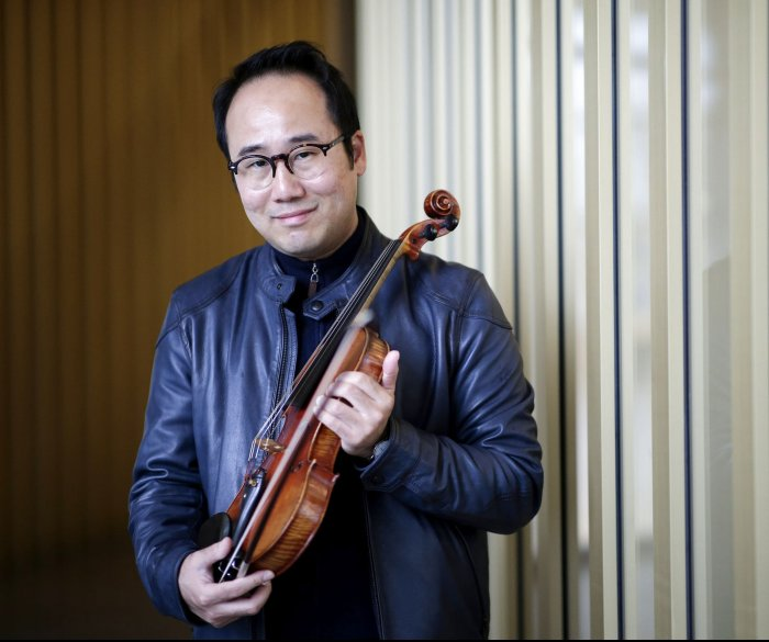 Violinist working for peace finds hope, worry in Korea summits