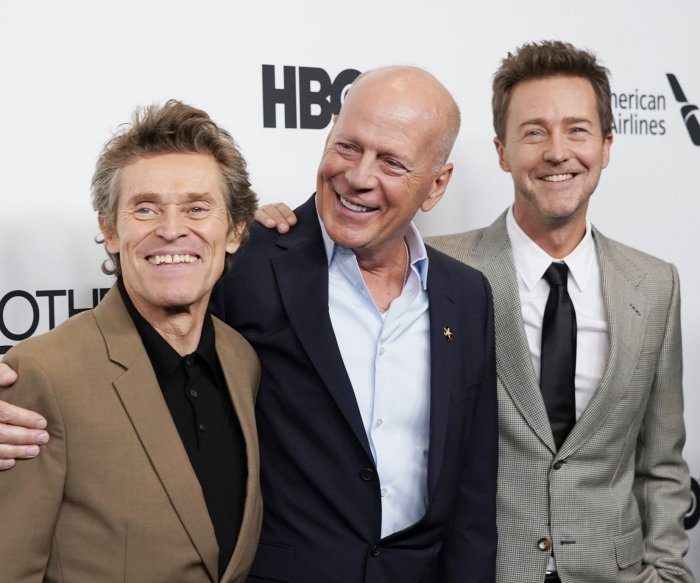 Edward Norton, Bruce Willis attend 'Motherless Brooklyn' premiere