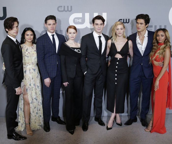 CW stars walk Upfront red carpet