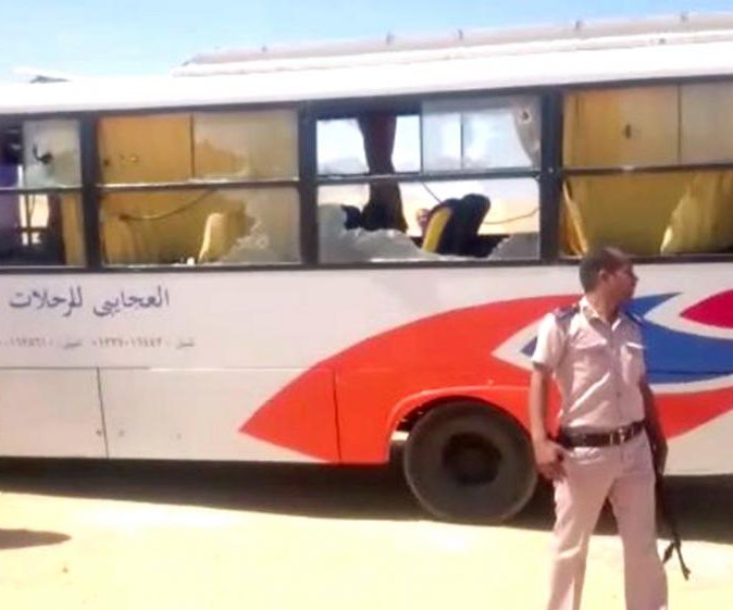 Egypt's jets strike suspected 'terrorist camps' in Libya after bus attack