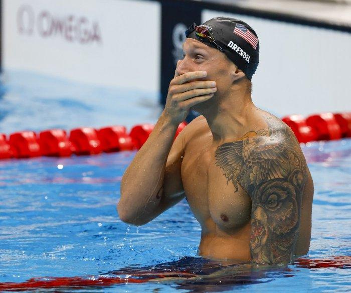 USA's Caeleb Dressel, Bobby Finke win gold in men's swimming at Tokyo Olympics