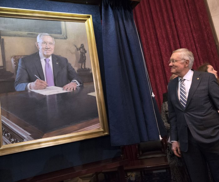 Senate Minority Leader Harry Reid's Capitol Hill portrait unveiled