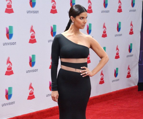 On the red carpet at the Latin Grammys