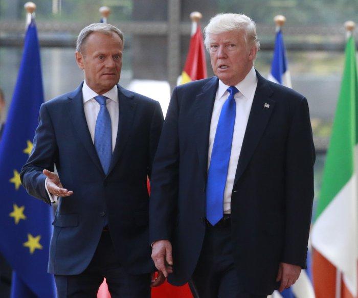 Trump talks counter-terrorism with EU, NATO leaders