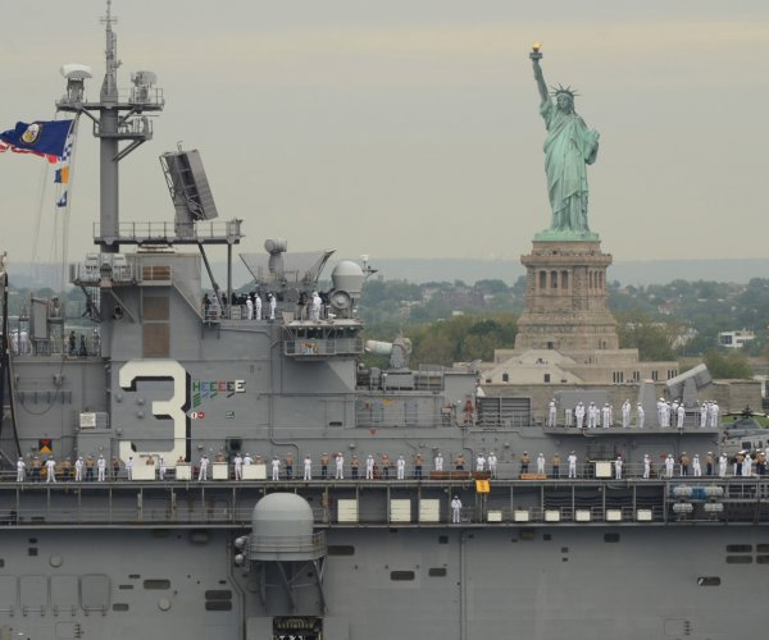 New York kicks off Fleet Week with parade of military ships