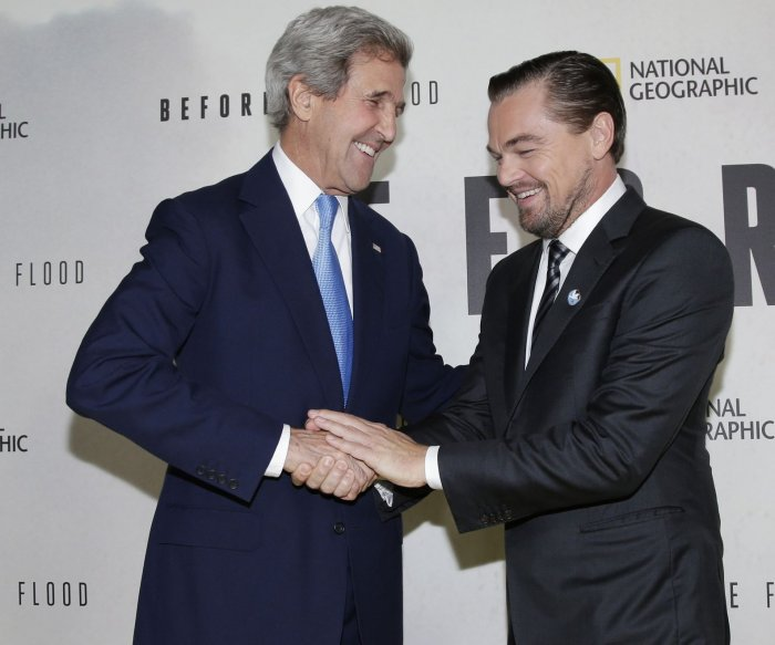 Leonardo DiCaprio screens 'Before The Flood' at UNHQ in New York
