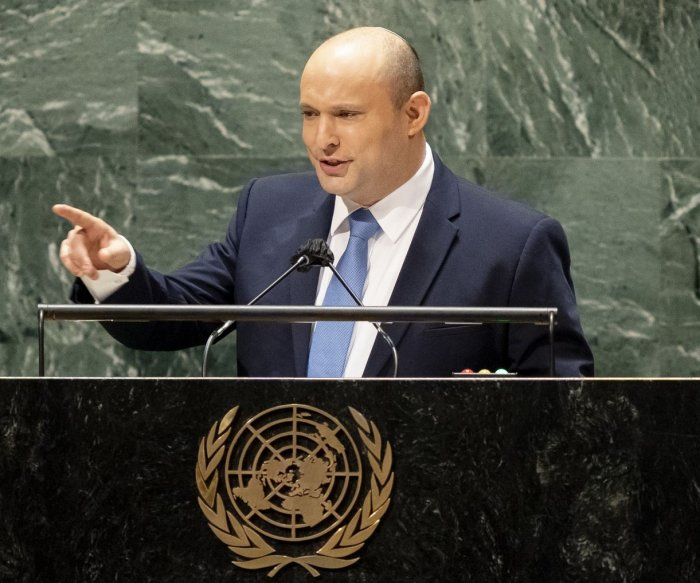 At U.N., Israeli PM Bennett warns of Iran's pursuit of nuclear weapons