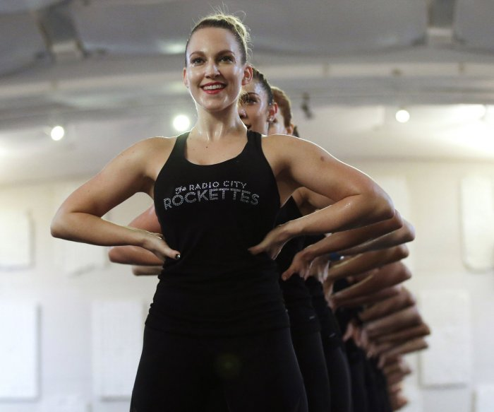 Rockettes practice for Christmas Spectacular