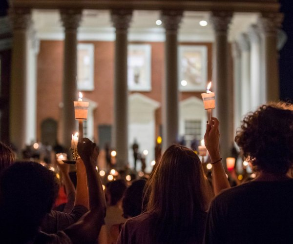 Peaceful candlelight vigil follows memorial on Charlottesville campus