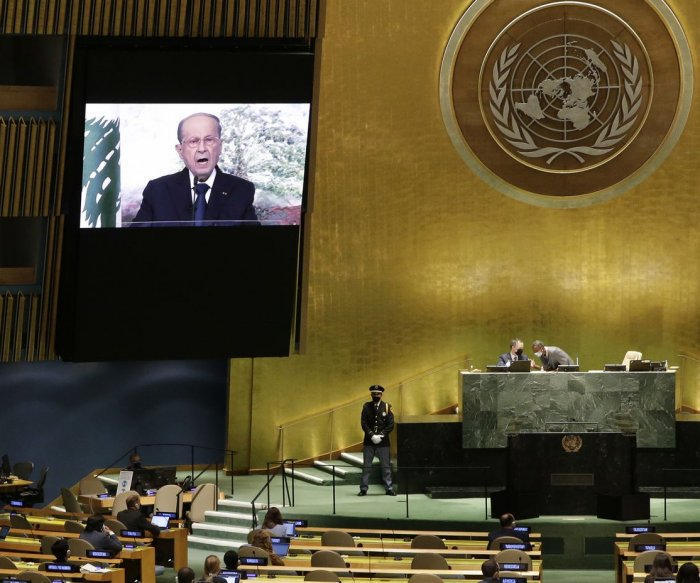 Lebanon's Michel Aoun asks U.N. for help amid crises, looming blackout