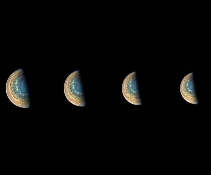 NASA shares time-lapse photo of Jupiter's south pole