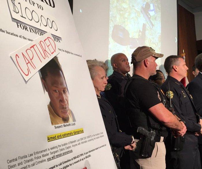 Fugitive suspected of killing Orlando officer captured after week-long manhunt