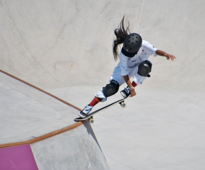 Young skateboarders, U.S. track stars highlight day at Olympics