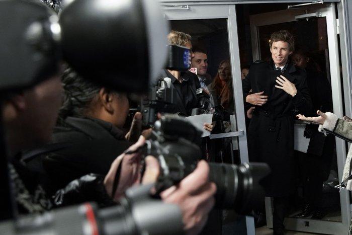 Eddie Redmayne, Felicity Jones attend premiere of 'Aeronauts' in NYC