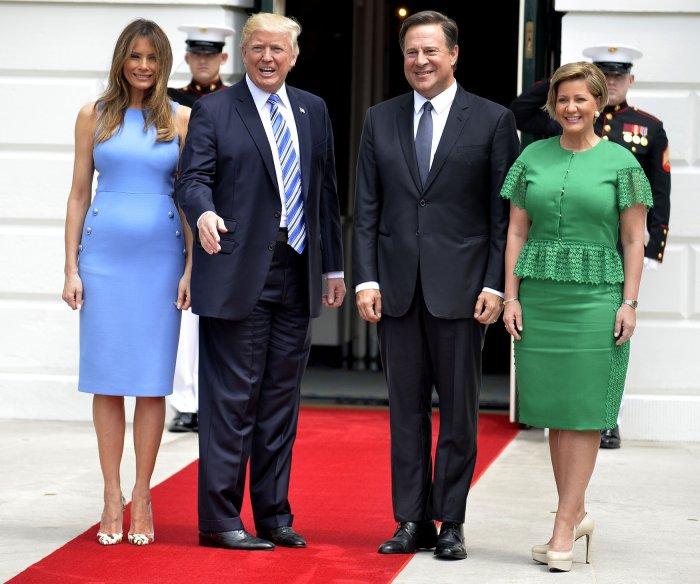 President Donald Trump meets with Panama's President Juan Carlos Varela