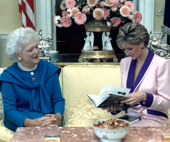 Former first lady Barbara Bush through the years