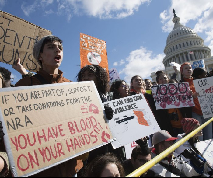 Students stand up for school safety in national walkout
