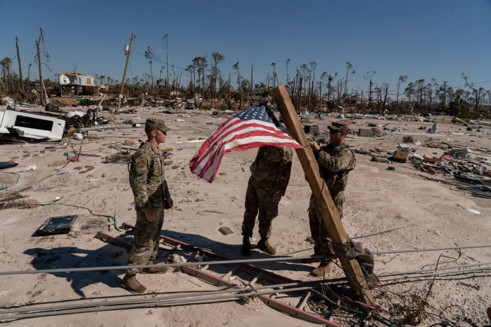 Hurricane Michael damage in Florida