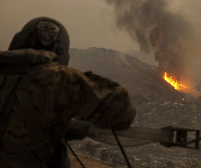 California fires now burning over 350 square miles