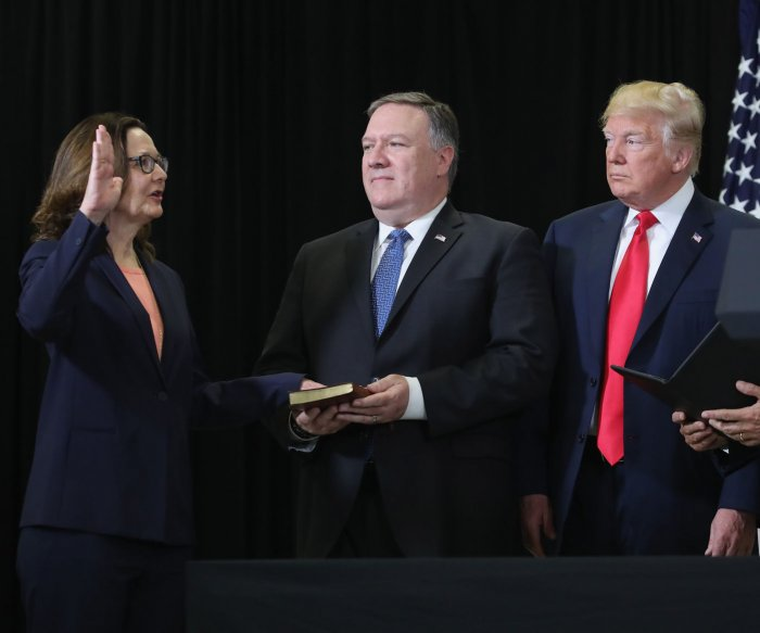 Gina Haspel sworn in as first woman to lead CIA