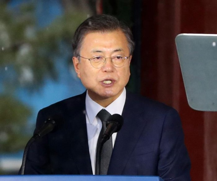 South Korean President Moon Jae-in calls for improved ties with Japan